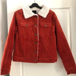Velour and Sherpa Jacket